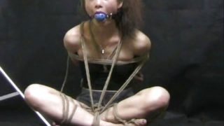 Mean Asian rope bondage